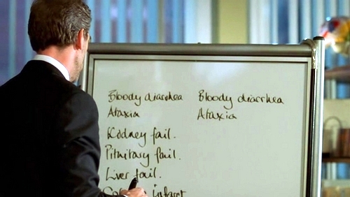 House MD with whiteboard