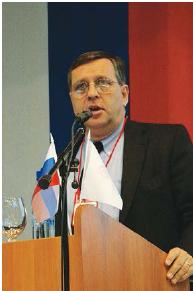 Michel Baudin speaking in Russia
