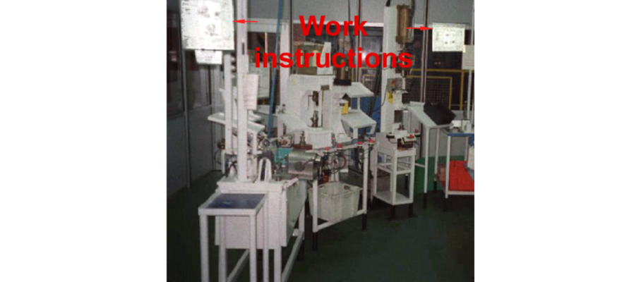 Operator instruction sheets