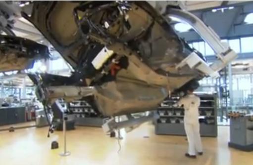 VW Dresden suspended adjustable conveyor