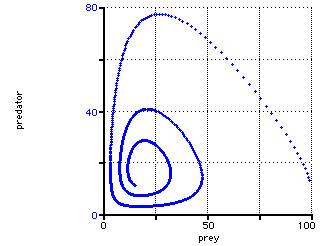 Orbit chart - Predator-prey limit cycle