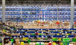 Amazon fulfillment center shown on Shmula