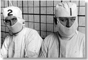 Surgeons in front of Gilbreth's grid
