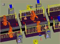 Software simulation of robotic welding