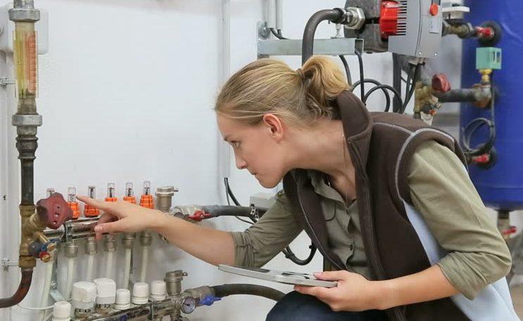 Maintenance woman
